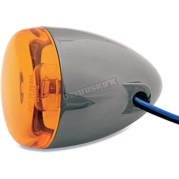 Chris Products Black Nickel Turn Signal w/ Amber Lens - 8501A-BN