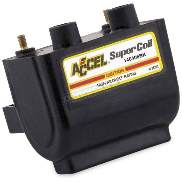 Accel Black HEI Super Coil Kit for H-D 65-E79 w/Points-Type Ignition - 140406BK
