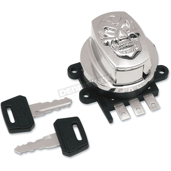 Drag Specialties Chrome Skull Side Hinge Ignition Switch - 2106-0038