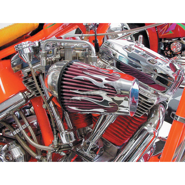 Force Chrome Tribal Thunder Forcewinder Show Off Cover for K&N Filter - 5061100