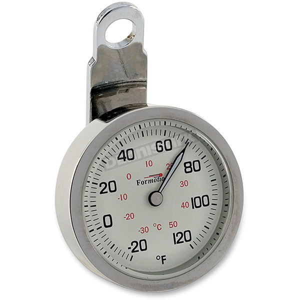 Formotion Night Advantage Thermometer - White Face w/Polished Stainless Steel Case - ELA-20710