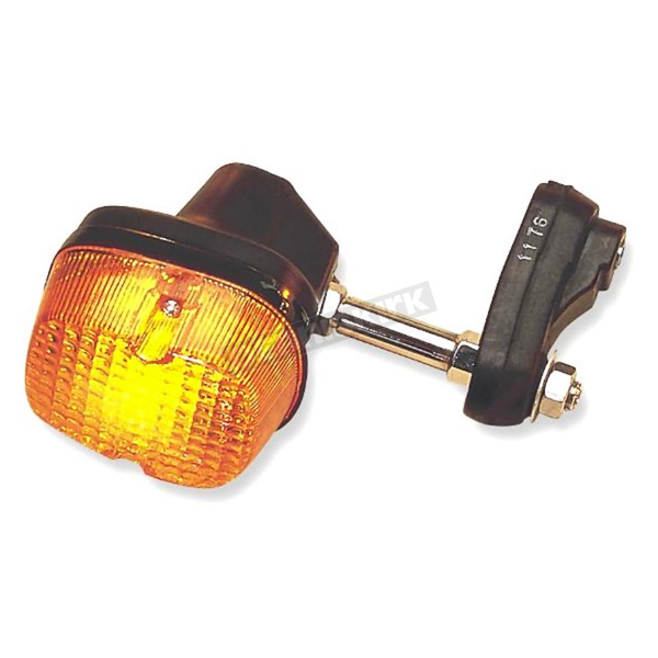 K & S Rear Turn Signal Assembly w/Amber Lens - 25-1176
