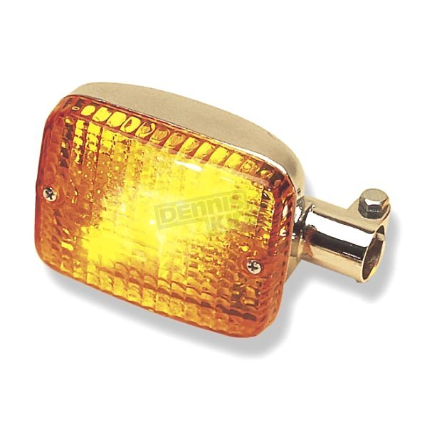 K & S Front Left/Right Turn Signal Assembly W/Amber Lens - 25-4065