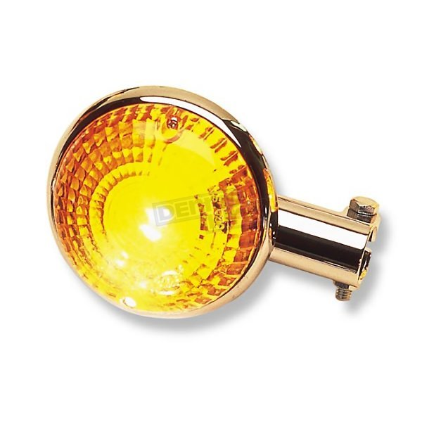K & S Front Left/Right Turn Signal Assembly W/Amber Lens - 25-4105