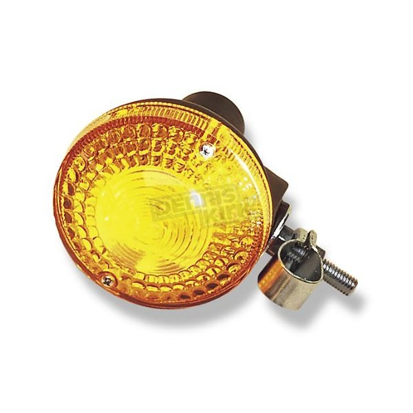 K & S Front Turn Signal Assembly w/Amber Lens - 25-4155