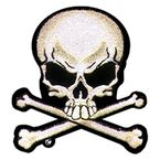 3x3 Skull and Crossbones Patch - PPA1162