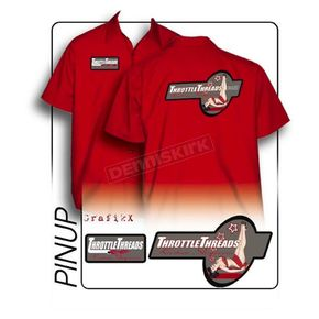 Throttle Threads Pinup Shop Shirt - TT611S24RD