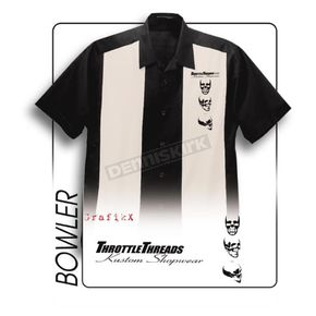 Throttle Threads Bowler Shop Shirt - TT911S55BS