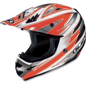 HJC Fluorescent Orange/White AC-X3 Option Helmet - 622-961