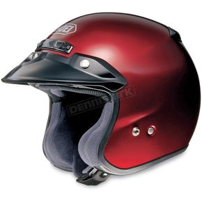 Shoei Helmets RJ Platinum-R Metallic Wine Red Helmet - 02-639