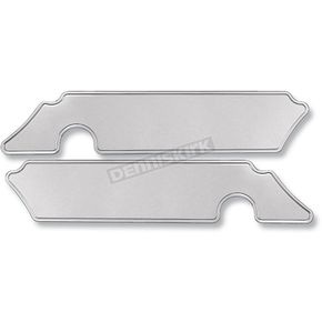 Pro-One Smooth Chrome Saddlebag Latch Inserts - 104740