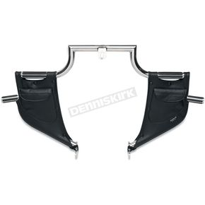 Drag Specialties Plain Lowers for Lindby Highway Bars  - 3550-0034