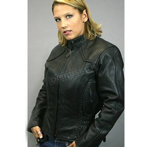 Hot Leathers Ladies Braided Leather Jacket - JKL1005XS
