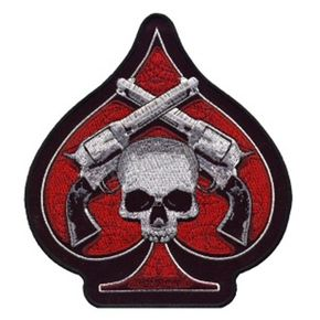 Hot Leathers 4x4 Skull and Pistols Patch - PPA1870