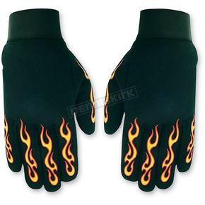 Hot Leathers Flamed Mechanics Gloves  - GVM2004L