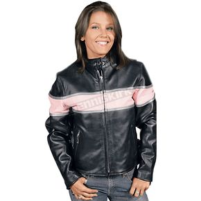 Hot Leathers Ladies Striped Leather Jacket - L509