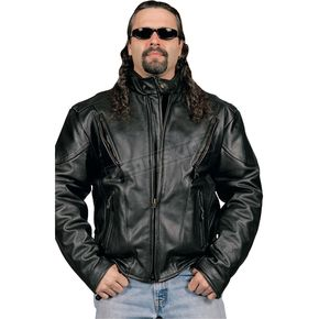 Hot Leathers Vented Leather Jacket - JKM1010-56