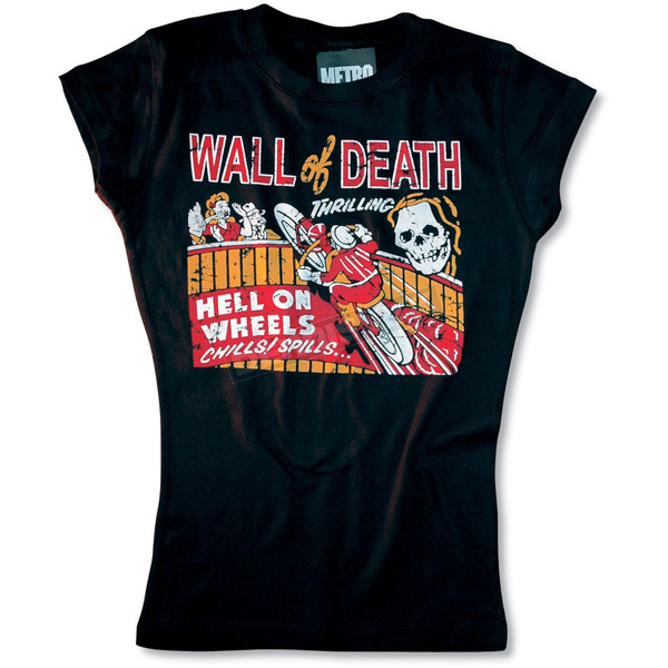 Metro Racing Wall of Death Girly Tee - WALLOFDEATH