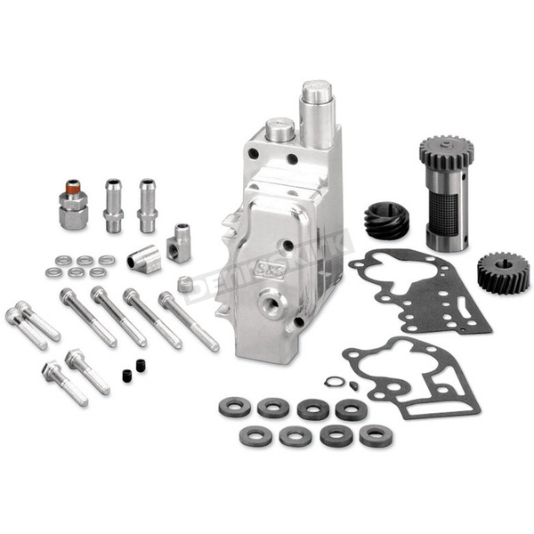 S&S Cycle Universal Style High Volume/High Pressure Polished Billet Oil Pump Kits - 31-6302