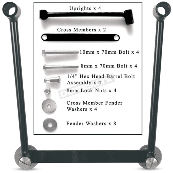Willie & Max Universal Saddlebag Hard Mount Kit - HM633