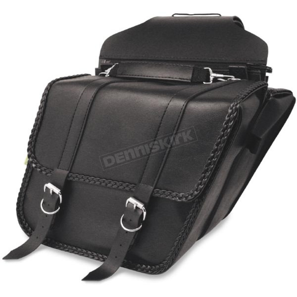 Willie & Max Braided Slant Saddlebags - SB701