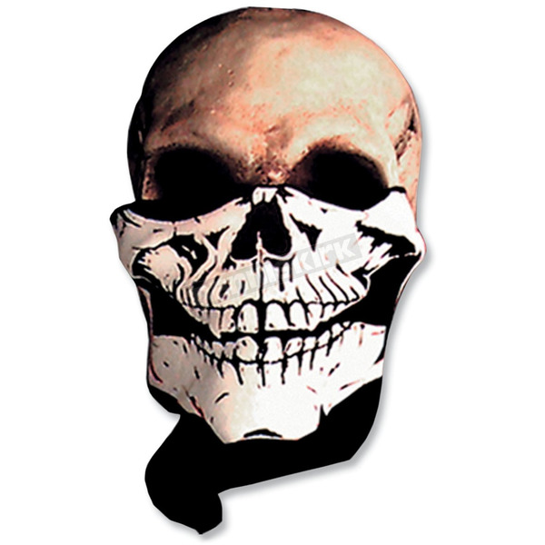 Skull Black/White Neck Warmer - FWA1003
