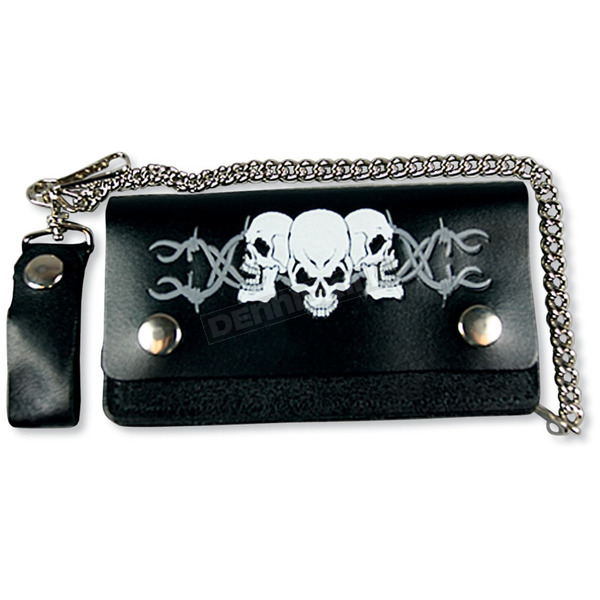 Hot Leathers Barbed Wire Skulls 6 in. Wallet - WLB2005