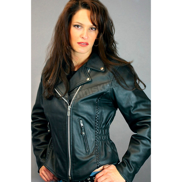 Hot Leathers Ladies Lightweight Leather Jacket - JKL1009XL