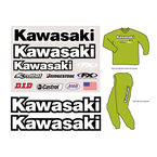 Kawasaki Factory Rider Gear Kit - FX08-82110
