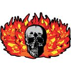 Translucent Flaming Skull Windshield Graphic - 220154