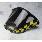 16 1/2 in. Medium Black Windshield w/Yellow Checkers - 479-472-57