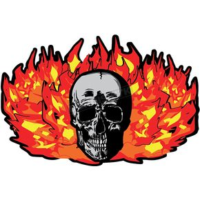 Stickerpoint Translucent Flaming Skull Windshield Graphic - 220154