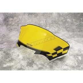 Sno-Stuff 12 1/2 in. Low-Cut Yellow Windshield w/Black Checkers - 479-479-77