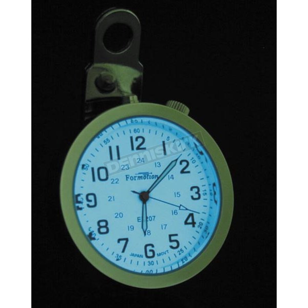 Formotion Round Night Advantage Clock-White Face w/Polished Stainless Steel Case  - ELA-20700