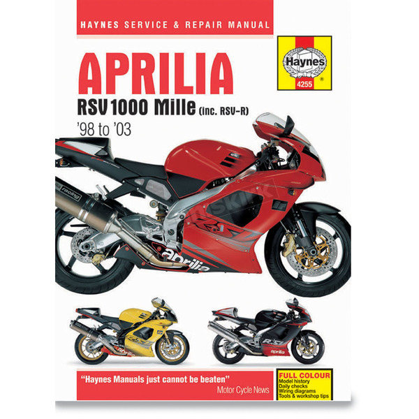 Haynes Aprilia RSV1000 Mille Repair Manual - 4255