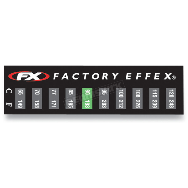 Factory Effex Temperature Stickers - FX08-90225