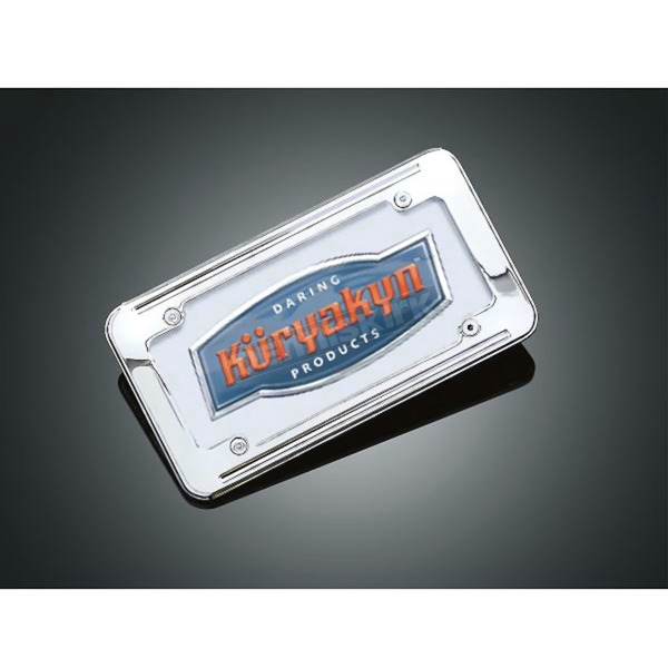 Kuryakyn Large Ball-Milled License Plate Frame - 9164