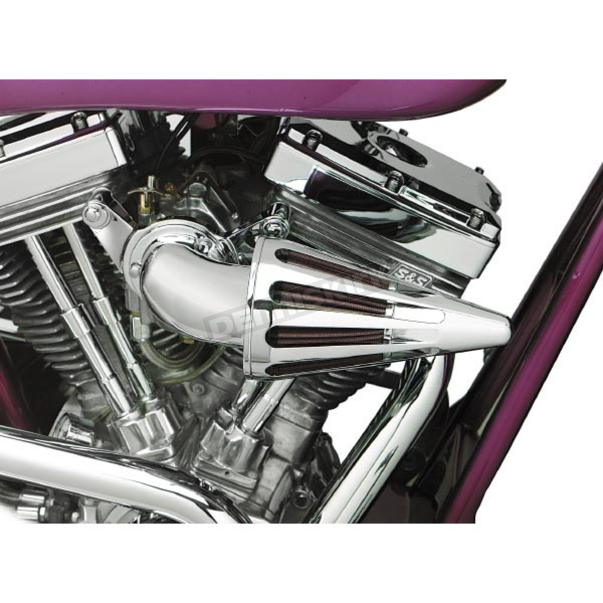 Custom Motorcycle Air Cleaners : D m custom cycle the bullet air cleaner kit with chrome