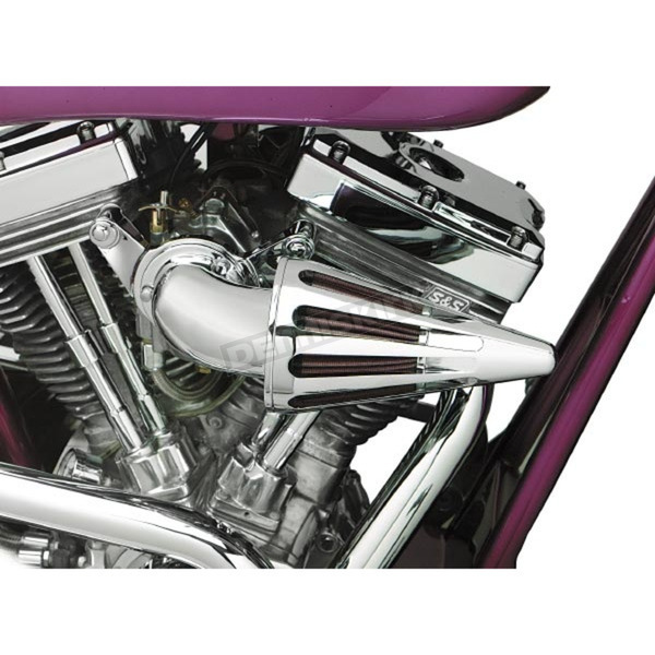 D & M Custom Cycle The Bullet Air Cleaner Kit with Chrome Elbow  - TS-7900-BCHA