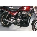 2-into-1 Black Header/Chrome Megaphone Style Exhaust System - 802-0703