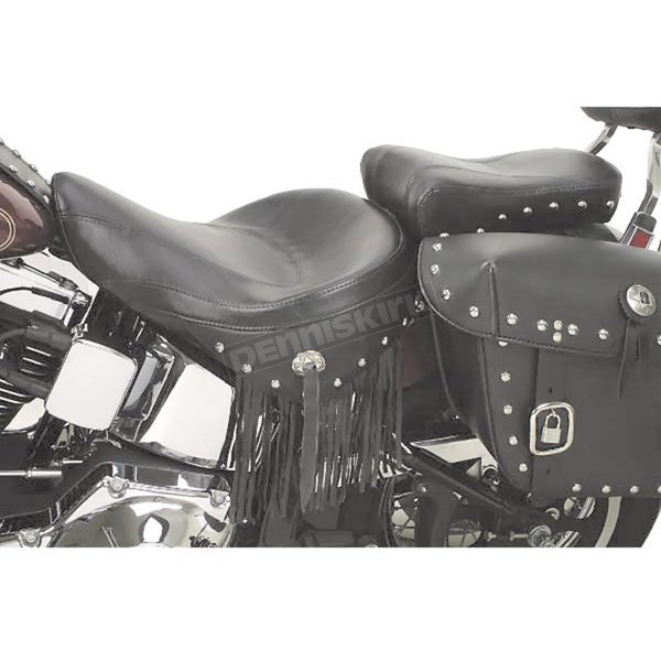 Saddlemen 10 1/2 in. Wide Renegade Deluxe Leather Touring Pillion Pad with Studs - 800-01-017
