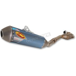 FMF RCT Blue Anodized Factory 4.1 System w/MegaBomb Header and Titanium Midpipe - 045488