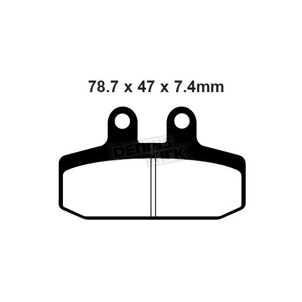 EBC Double-H Sintered Metal Brake Pads - FA256HH