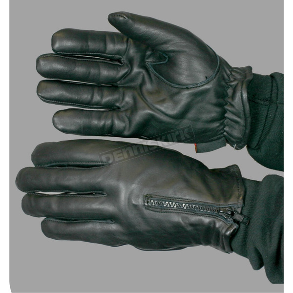 Hot Leathers Fleece Lined Leather Gloves - GVM1008S