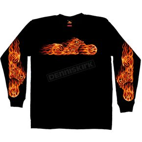 Hot Leathers Hell Bike Long Sleeve T-Shirt - GMS2070XXL