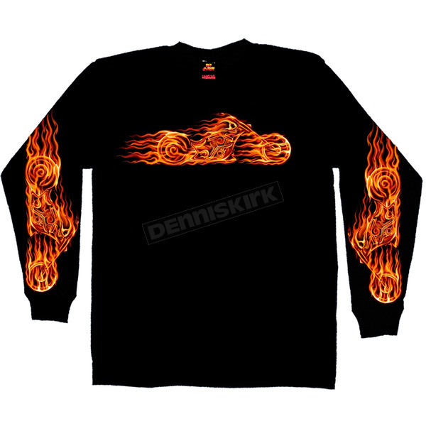 Hot Leathers Hell Bike Long Sleeve T-Shirt - GMS2070L