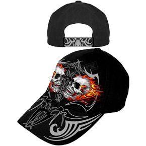 Hot Leathers Mirror Skulls Hat - BCA1027