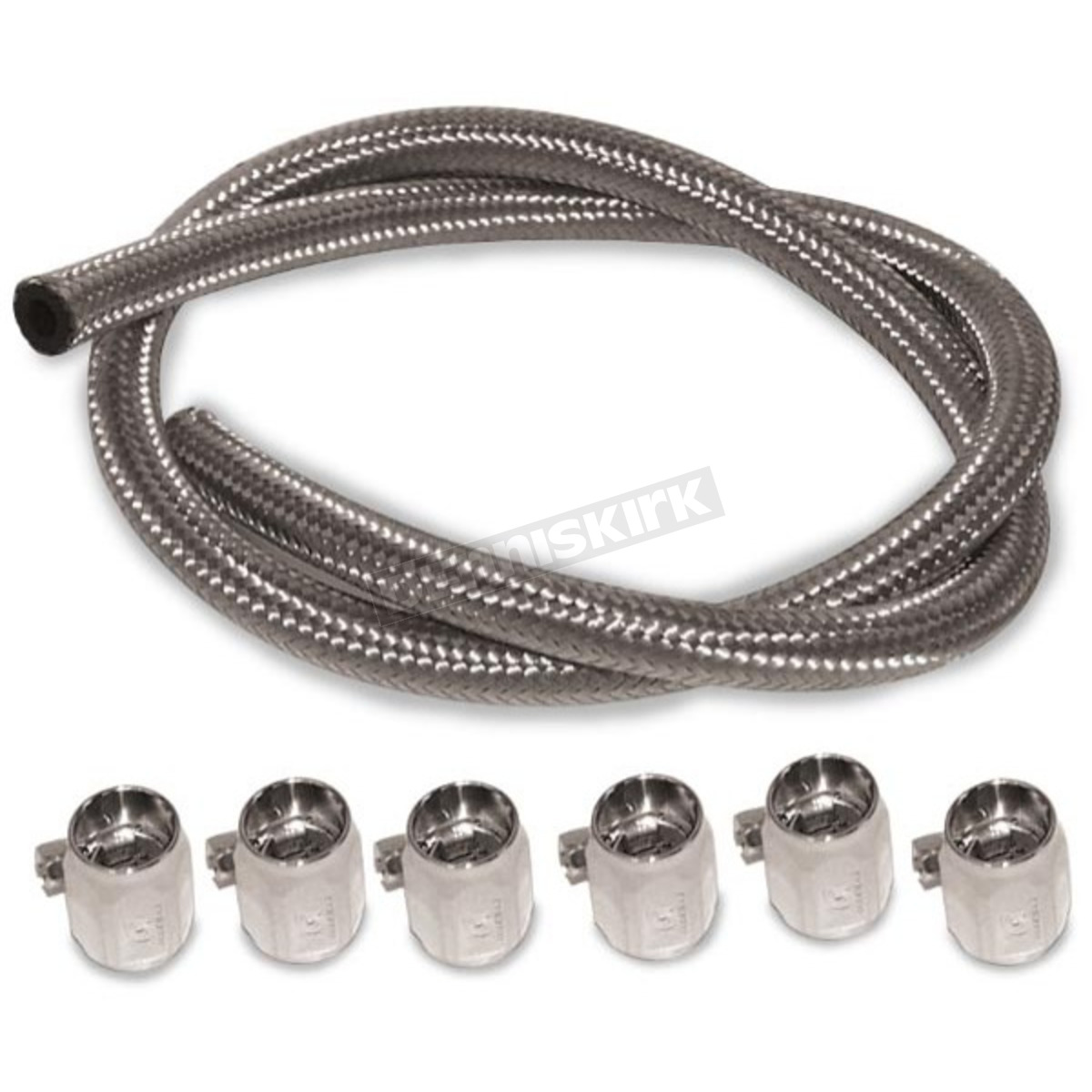 h18541 goodridge 5 16 in stainless steel braided fuel line kit for custom