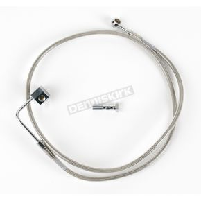 Drag Specialties Rear Standard Length Clear-Coated Braided Stainless Steel Brake Line Kit - 1204-2743