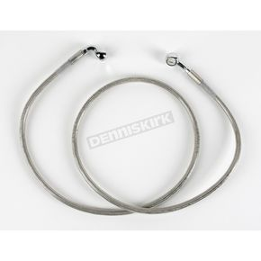 Drag Specialties Front Standard Length Clear-Coated Braided Stainless Steel Brake Line Kit - 1204-2749